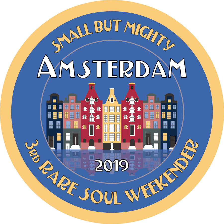 Record box stickers 3rd Amsterdam Rare Soul Weekender 13th-14th December 2019