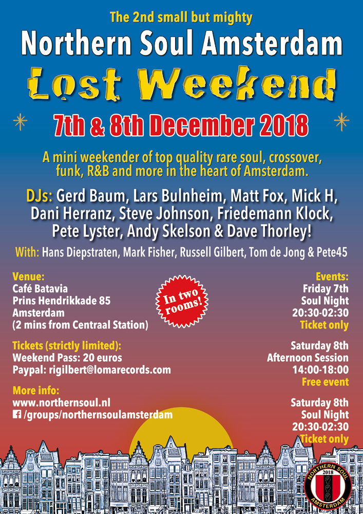 Northern Soul Amsterdam rare Soul Mini Weekender 2018